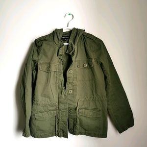 Women's Army Green Utility Drawstring Jacket